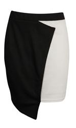 Darcey Wrap Over Detail Monochrome Skirt - $30