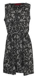Gina Monochrome Lace Print Sleeveless Dress - $40