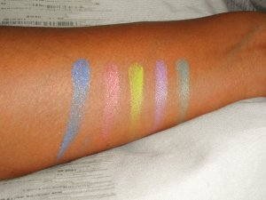 Limecrime shadow swatches