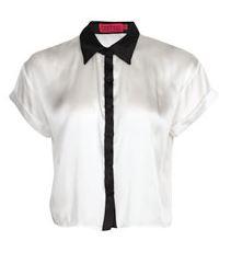 Louise Boxy Crop Shirt - $40