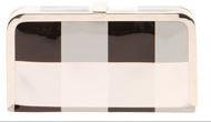 Millie Geometric Shine Box Clutch Bag - $45