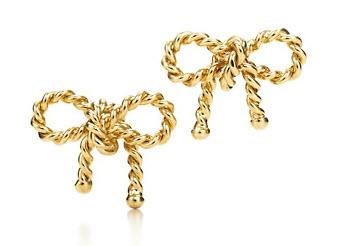 Tiffany Twist Bow Earrings