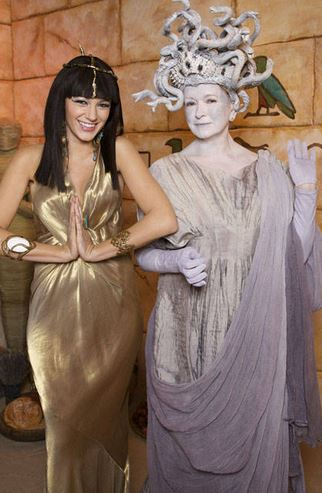 Blake Livley and Martha Stewart - Cleopatra and Medusa